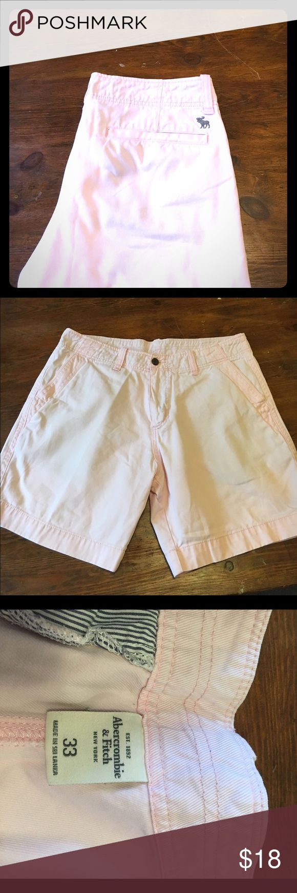 Men's Abercrombie & Fitch Pink Shorts Light Pink shorts! Size 33, but run more like a 34! Abercrombie & Fitch Shorts Flat Front