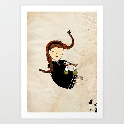 Libra Art Print by Kristina Sabaite -