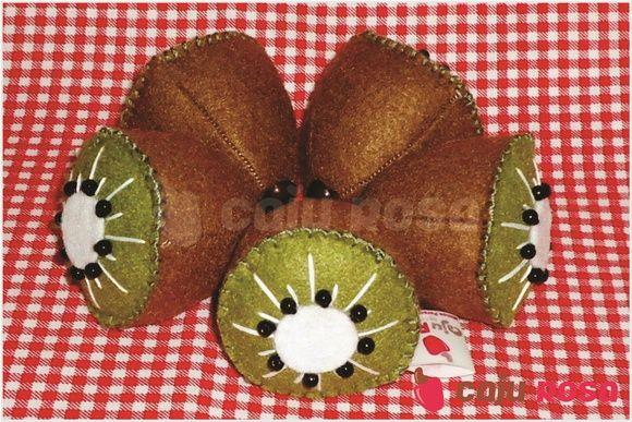 Fruta em feltro - Kiwi | Caju Rosa | Elo7