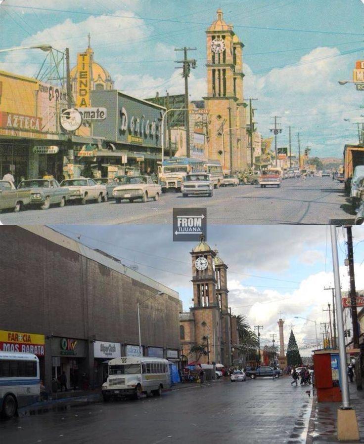 Calle segunda hoy y el siglo pasado. Los camiones de pasajeros no Han cambiado.