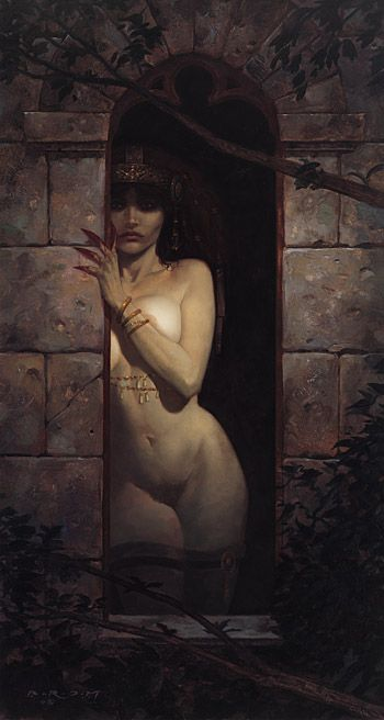 Brom Art: Moonlight. Perhaps the most purely erotic image I have ever seen in my life.