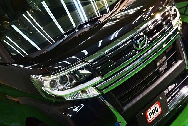 ダイハツ・タント カスタム(ブラックマイカメタリック) コーティング:PCX-S7 ---下地処理--- 研磨:新車ミガキ LEVEL1 ディ...
