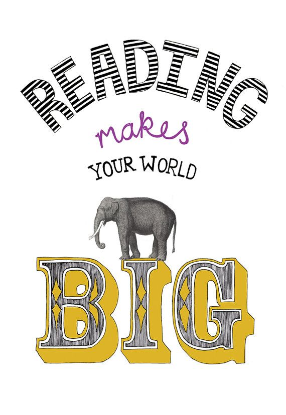 reading makes your world big by goldlion on Etsy