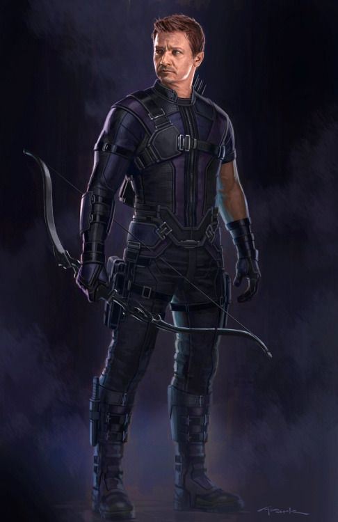 Captain America: Civil War Character Concept Art: Hawkeye - Andy Park