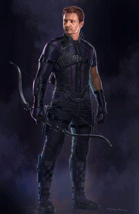 Captain America: Civil War Character Concept Art: Hawkeye - Andy Park
