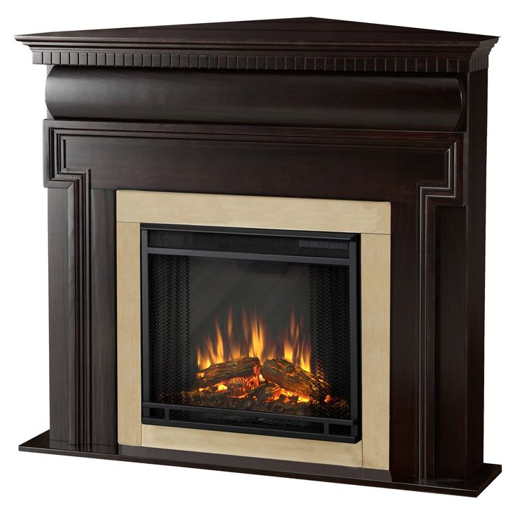 7 best firplace images on pinterest electric fireplaces for Indoor corner fireplace