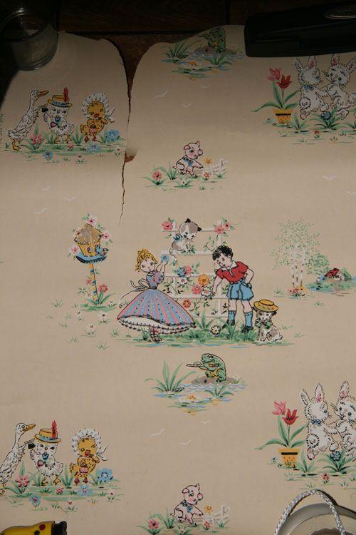 Vintage 1950 S Children Nursery Room Wallpaper Dig 19514 Custom Digital Wallurals