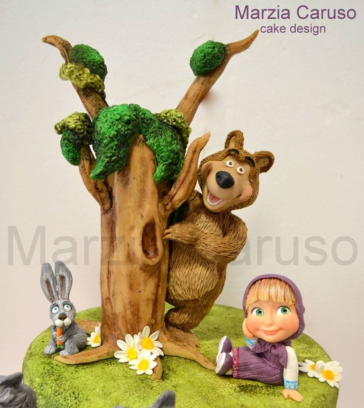 Marzia Caruso cake - Masha and the Bear