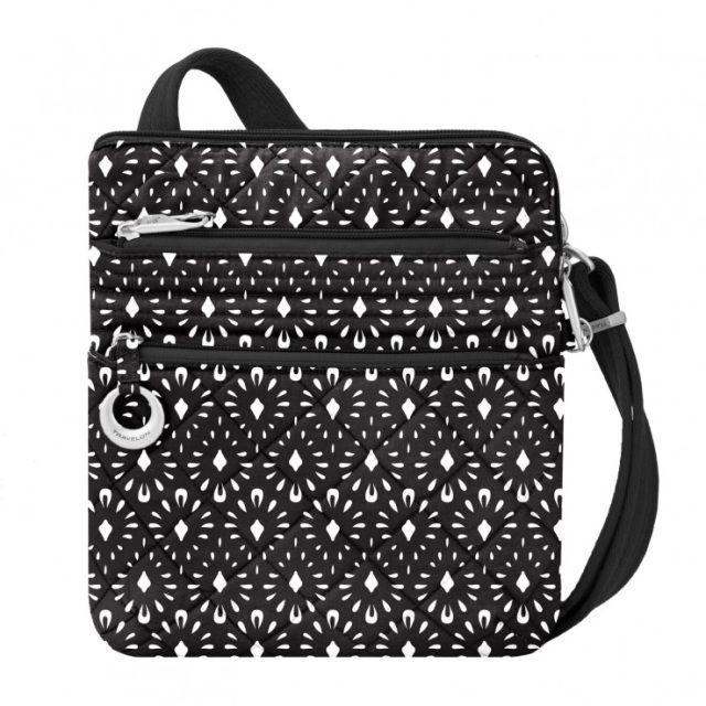 TRAVELON Women/'s Travel Purse BOHO Slim Crossbody Anti-Theft Bag Floral Paisley