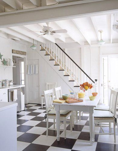 Kitchen with Stairs