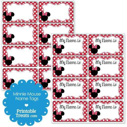 17 Best Images About Minnie Mouse Printables On Pinterest