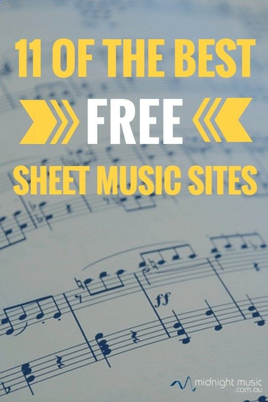 11 of the best free sheet music sites for music teachers | Midnight Music Technology Training