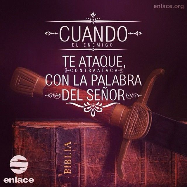 Porque la palabra de Dios tiene vida y poder. Es más cortante que cualquier espada de dos filos... - Hebreos 4:12 #enlacetv #Biblia