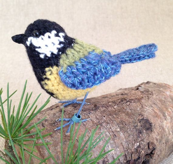 Archie the great tit from Freshly Knitted