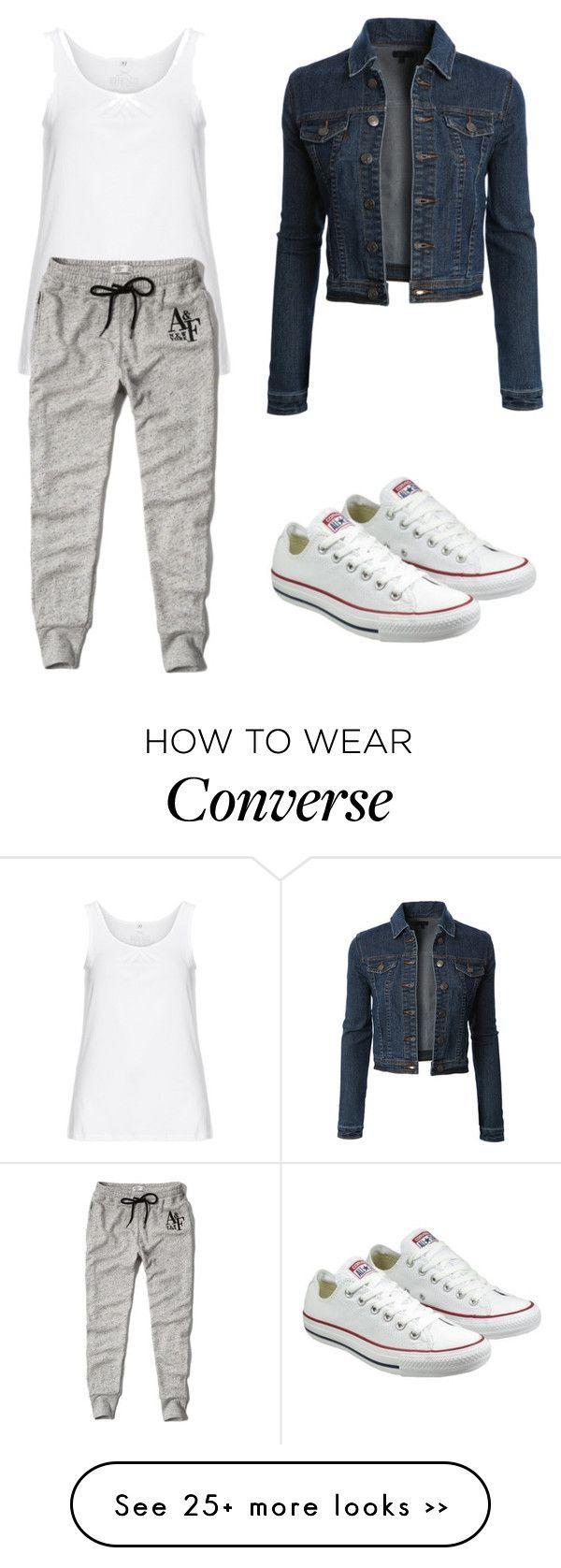 Trending 585 by ayannap on Polyvore featuring LE3NO, Zhenzi, Abercrombie Fitch and Converse