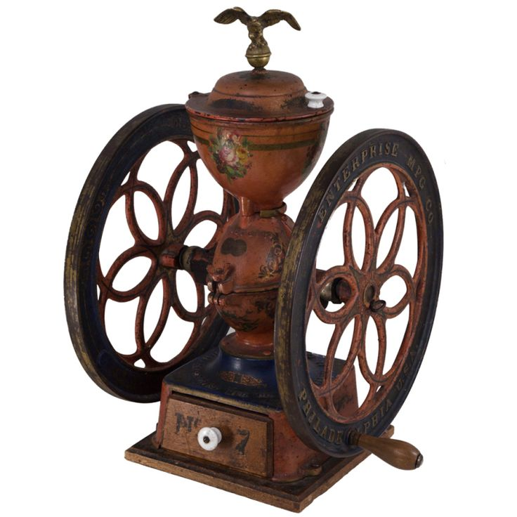 Circa 1873 American Coffee Grinder | From a unique collection of antique and modern decorative objects at http://www.1stdibs.com/furniture/more-furniture-collectibles/decorative-objects/