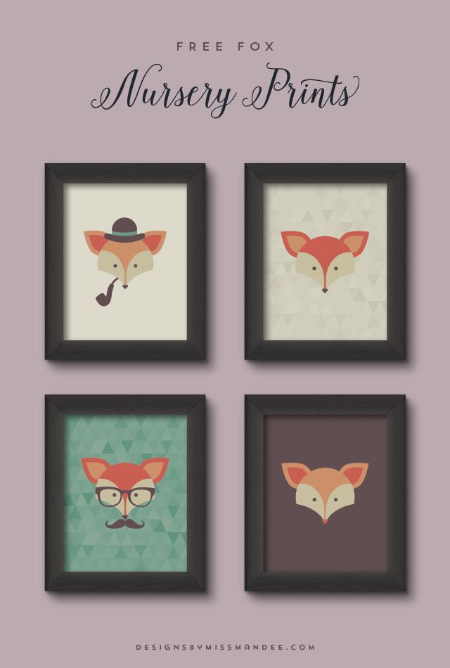 Love foxes! I can just imagine how sweet these prints would look hanging in a baby's room. And what a cute baby shower gift idea!