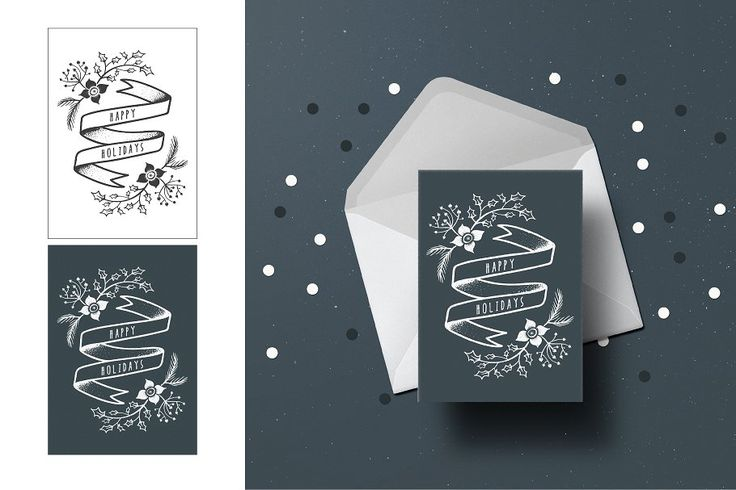 Christmas Greeting Cards by mky on @creativemarket