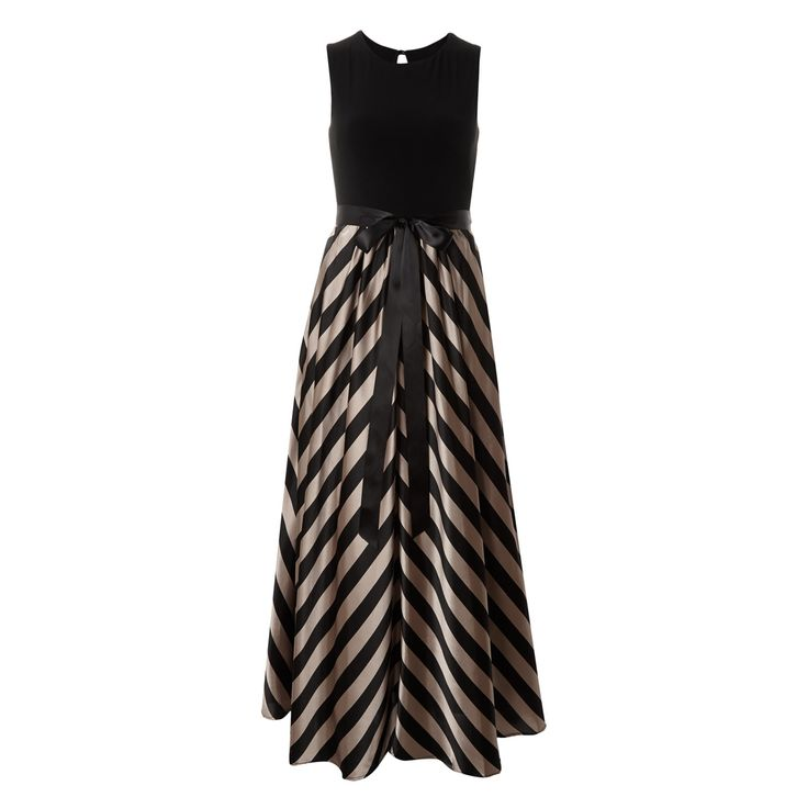 Betsy adam black and taupe evening gown tk maxx for Tk maxx dresses for weddings