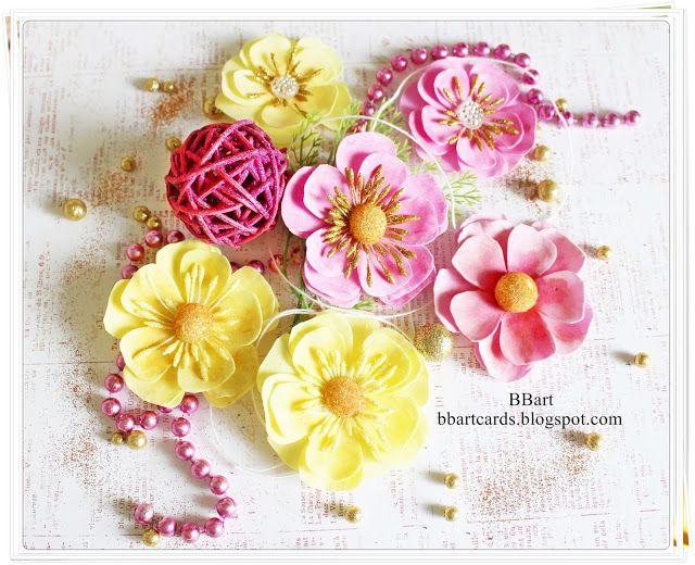 TWÓRCZY POKOIK by BBart: Pink and lemon flowers -tutorial