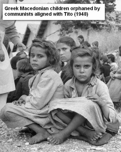 Life Magazine picture of Greek orphans during civil war