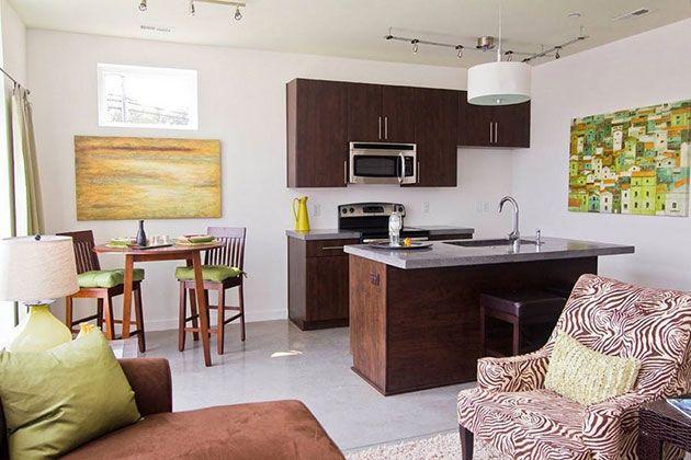 20 Fotos E Ideas Para Integrar Una Cocina Pequena Abierta Al Salon Open Kitchen And Living Room Open Plan Kitchen Living Room Kitchen Design Open