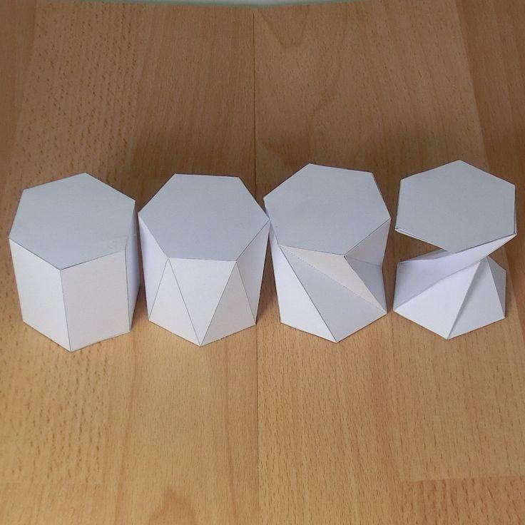 prisma hexagonal torcido