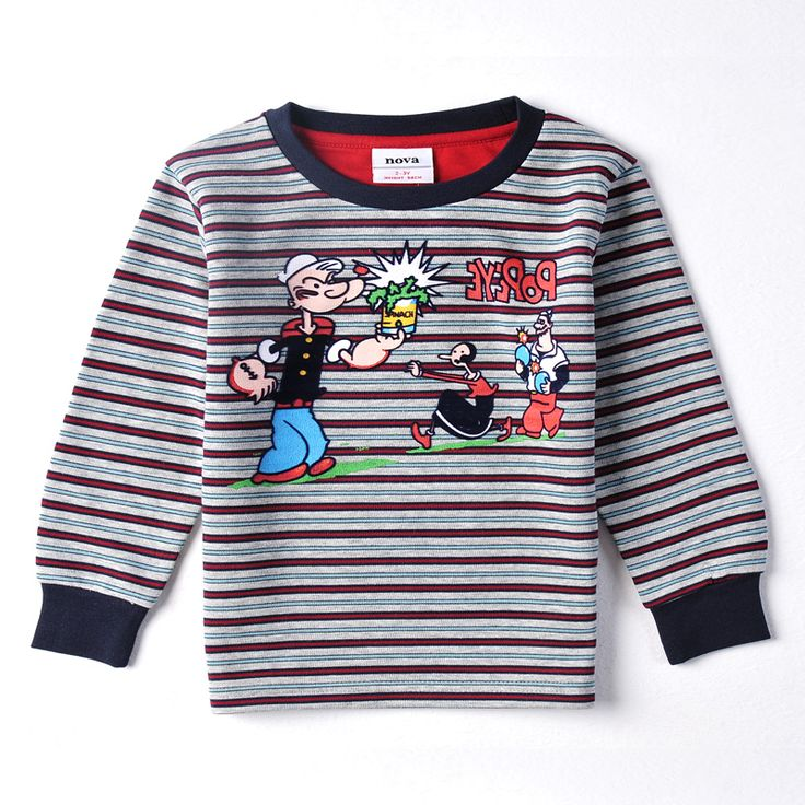$7.56 (Buy here: https://alitems.com/g/1e8d114494ebda23ff8b16525dc3e8/?i=5&ulp=https%3A%2F%2Fwww.aliexpress.com%2Fitem%2FNova-brand-Boy-long-sleeve-cartoon-t-shirt-children-stripe-character-O-neck-regular-t-shirt%2F32705450465.html ) Nova brand Boy long sleeve cartoon t shirt children stripe character O-neck regular  t shirt kids clothing for boys A3146 for just $7.56