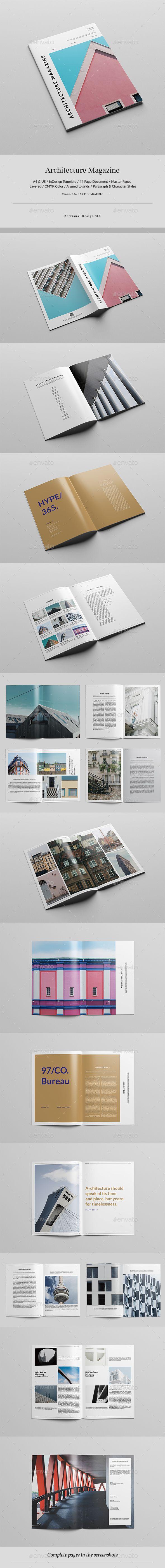 Architecture Magazine Design Template - Magazines Print Design Template InDesign INDD. Download here: https://graphicriver.net/item/architecture-magazine/19384820?ref=yinkira