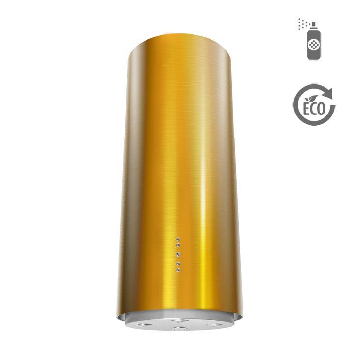 Okap wyspowy Ciarko Design ORW Color żółty http://www.sklep.ciarkodesign.pl/e-sklep/okapy-wyspowe/or-w-color-yellow-detail  #DESIGN #KitchenIsland #OKAP