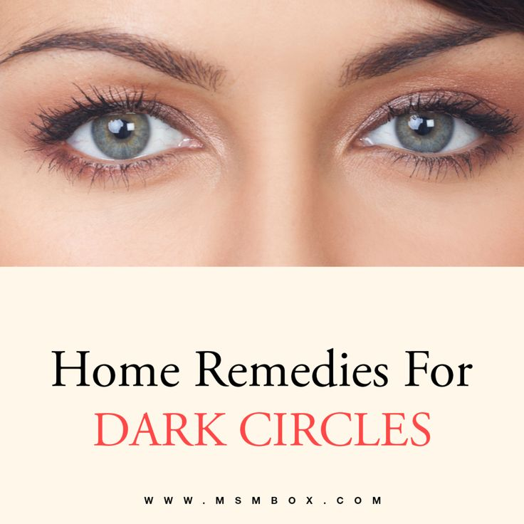 Natural Health Dark Circles Under Eyes