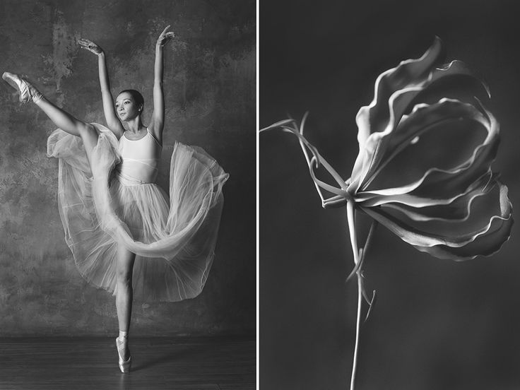 Ballerinas and flowers