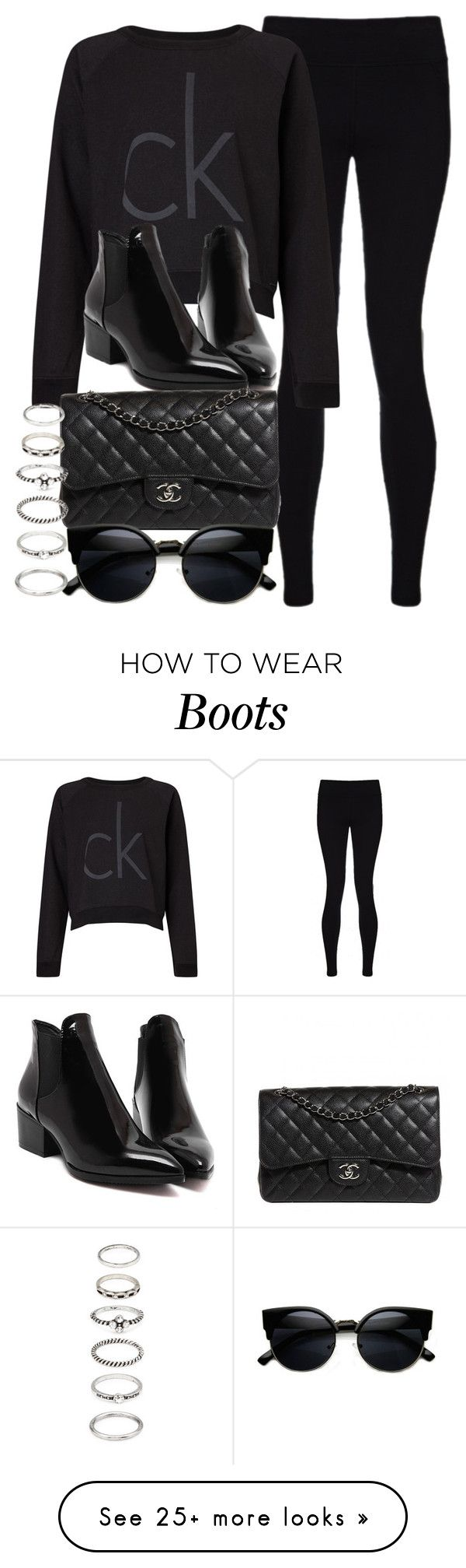 """Style #10614"" by vany-alvarado on Polyvore featuring Sweaty Betty, Calvin Klein, Chanel and Forever 21"