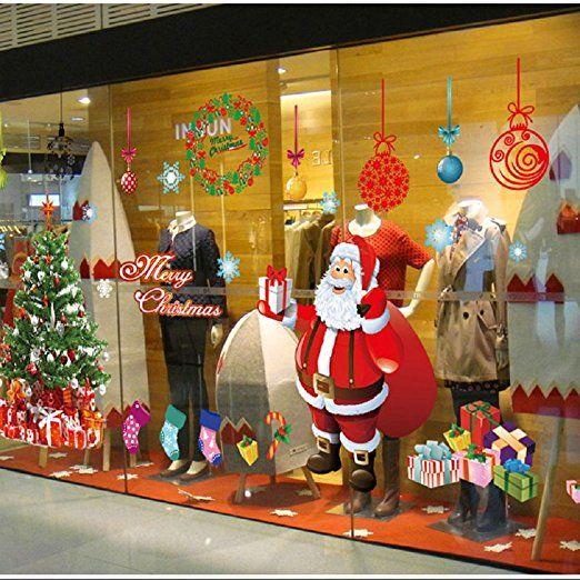 Malloom® Natale Vetrofanie Decorazione Della Decalcomania Della Home Christmase Decor Wallpaper Babbo Natale
