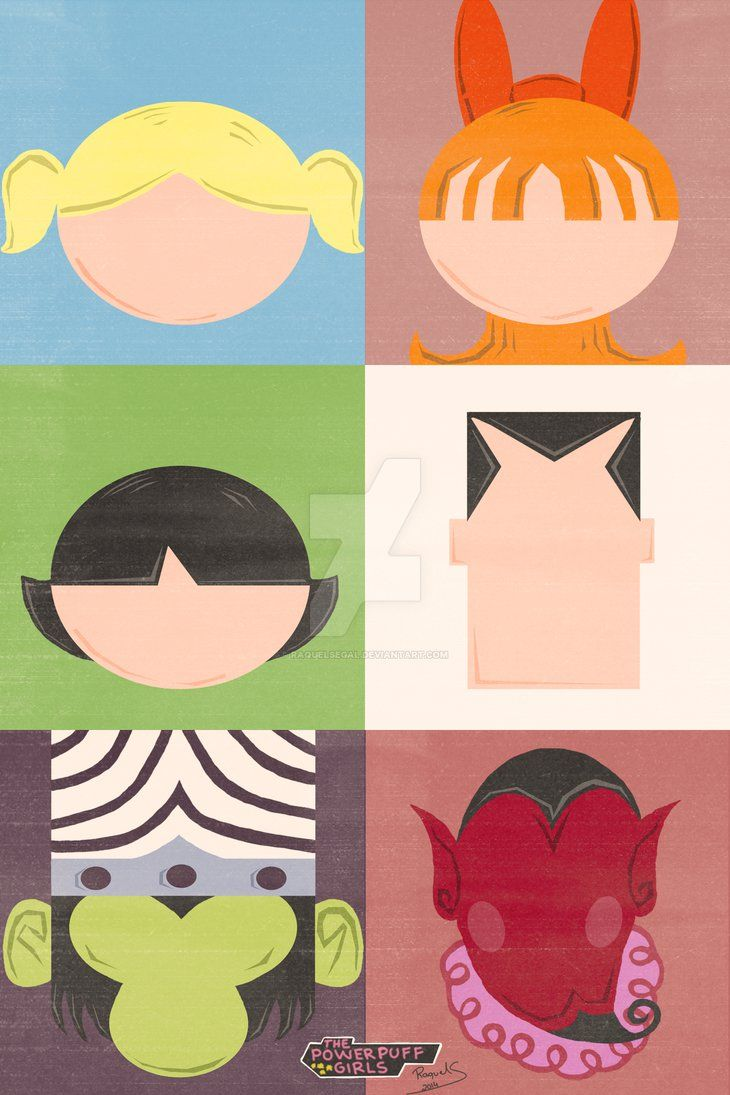 The Powerpuff Girls - Minimalist Poster by raquelsegal