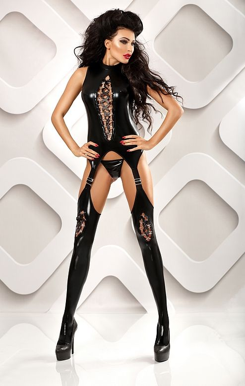 Lolitta - Horny pikantne bodystocking wet-look