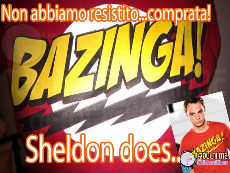 Ormai si è troppo impegnati per spiegare che si scherza... #Bazinga lo farà per te! #SheldonCooper approva! #TShirtsRoll per le vostre magliette del momento! #RollTime