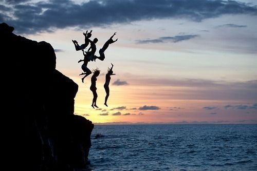 cliff diving :)
