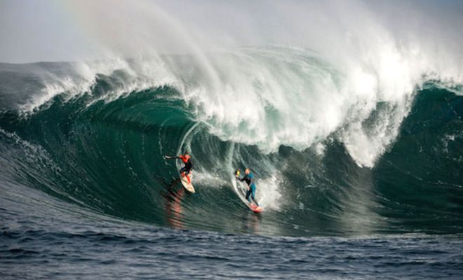 Taj Burrow And Mark Mathews Risk Their Lives At 'The Right', Notorious For Deadly Multiple Wave Hold-Downs, In Pursuit Of The Greatest Surf Photo Ever!