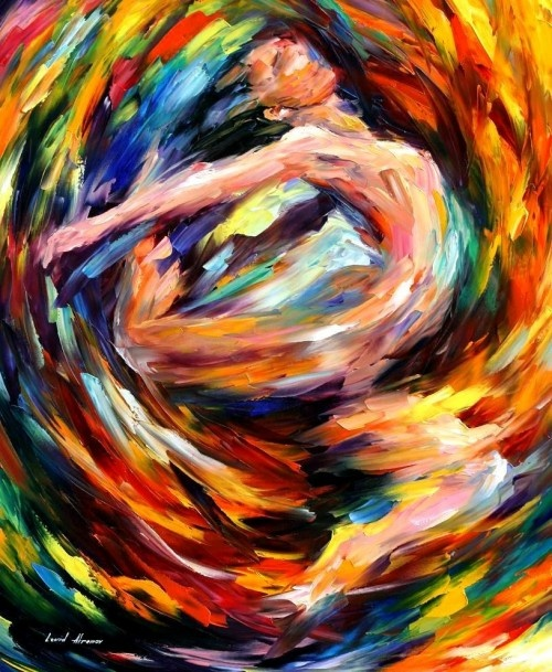 "WHIRLWIND OF FEELINGS -  PALETTE KNIFE Oil Painting On Canvas By Leonid Afremov -  Size 30"" x 36"""
