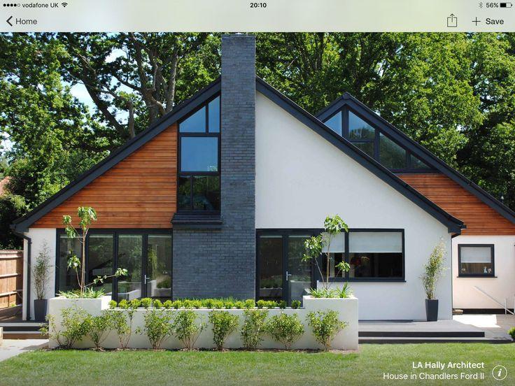 Hausfassade modern bungalow  330 besten Дома Bilder auf Pinterest | Holzhaus, Fenster ...