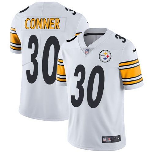 0b05a19ebe7 ... Mens Pittsburgh Steelers 30 James Conner Nike Limited White Road Vapor  Untouchable NFL Jersey 75 Mens 2017 NFL Draft ...