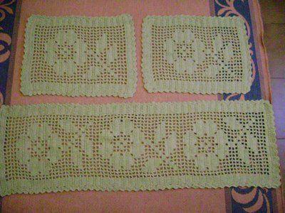 tapete de croche 2 Tapete de Croche em Barbante   Com Grafico Flores Redondo Oval