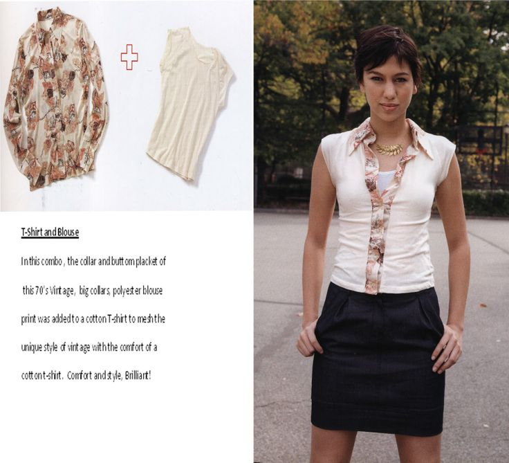 Refashioning: T-Shirt and blouse refashion combo