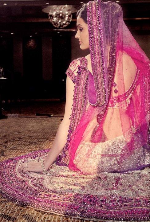 Beautiful Pink and White Bridal Lehenga
