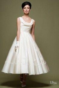 Vintage Short Wedding Dresses For Vow Renewal