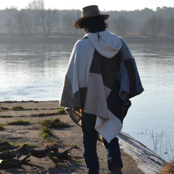 men's wool poncho mens poncho  gypsy poncho Clothing Wool poncho mens winter wear brown poncho