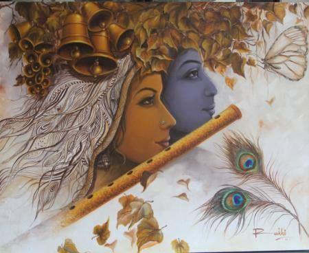 Radha Krishna Love & Emotions. Buy this #RadhaKrishna painting from India's biggest online art store. #Art #Gallery #store #buy #online #artzolo #artist #artwork #artlove #artlover #loveart #gift #giftidea #hobby #decor