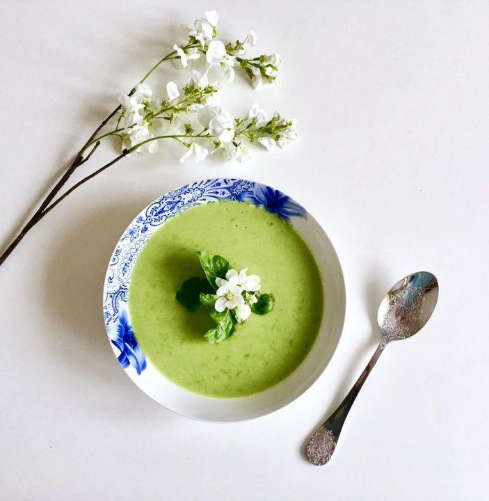 Hráškovo-chřestová polévka