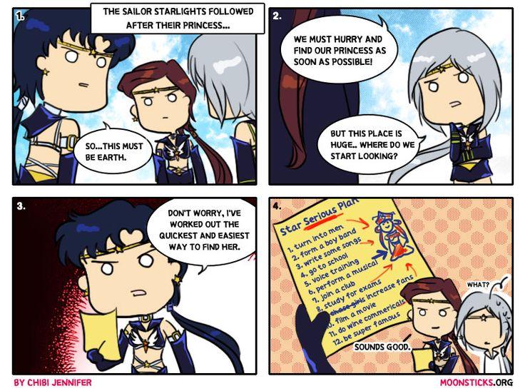 MoonSticks Sailor Moon Comic/Doujinshi #73 featuring Sailor Starlights: Sailor Star Fighter/Seiya Kou, Sailor Star Maker/Taiki Kou, Sailor S...